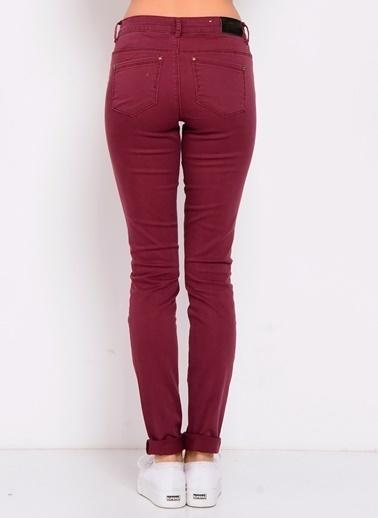Only Only Bordo Denim Pantolon Kırmızı